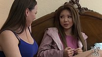 Pretty asian girl Ayumi Anime visits Dana Dearmond for some lesbian adventure's Thumb