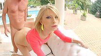 Karina Grand in gonzo creampie sex scene by All Internal