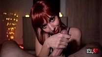 Redhead College Babe Gives Amazing Blowjob Afte...