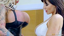 Brazzers - Hardcore lesbian love with Candy and Jennifer preview image