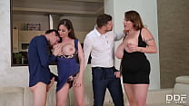 Tittyfucking Orgy With Voluptuous Nymphos Cathy