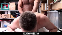 Straight Jock Fucked By Gay Security Guard