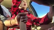 Cum in car - Batendo uma pro amigo no carro