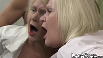 GILF Lacey Starr tricks patient into doggystyle penetration