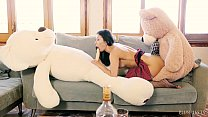Valentina Bianco first time 3some with teddy bears Thumbnail