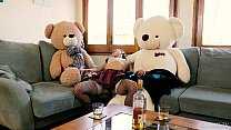 Valentina Bianco first time 3some with teddy bears Preview