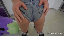 Petite Teen In Thongs Fucking