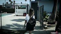 Recorded schoolgirl fucking her teacher after practise thumbnail
