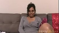 Indian Porn Star Horny Lily and her favorite toy Masturbating With Dirty Sex Chat In Tamil's Thumb