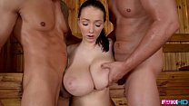 FuckinHD - Lucie Wilde hot Fuck with 2 guys in the Sauna thumbnail