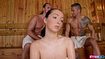 FuckinHD - Lucie Wilde hot Fuck with 2 guys in the Sauna - 9Club.Top