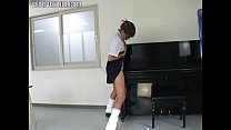 asian schoolgirl humping a piano