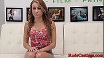 Casting teen hardfucked and facialized preview image