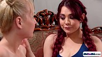 Redhead tastes best friends breast milk