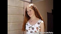 Hairy redhead Rachel video
