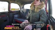 Female Fake Taxi Shy cheating boyfriend fucks blonde cab driver on backseat