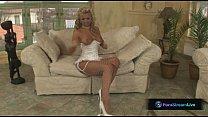 Hottie Ginger Jones in sexy white lingerie video