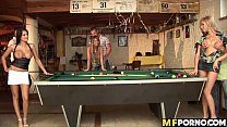 Pool hall orgy Alison Star, Christine Lee, Donna Bell, Winnie 1