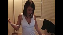 Amateur Brunette Stripsteases Suck And Fuck