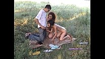 Very cool threesome picnic - 9Club.Top