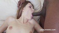 Sexy slut Ginger Fox gets non stop gapes and 100% Balls Deep Interracial Anal thumbnail