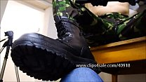 DOMINANT SOLDIER SPITS AND STOMPS ON YOU - 035