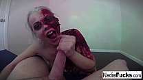 Horny zombie gets her fill of cock and jizz Thumbnail