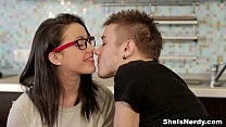 She Is Nerdy - Nerdy birdy Izi Ashley getting dirty teen porn video