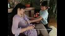 Busty Russian Mom Seduces Young Son