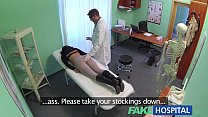 Fake Hospital Sexual treatment turns gorgeous busty patient moans of pain into p Image