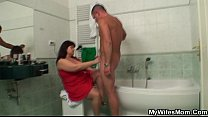 Wife catches her man fucking her huge mom صورة