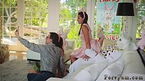 Family business scene and step mom ally's daughter squirt