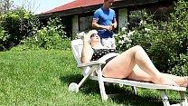 Face smothering with Monika Blond HD; blonde, outdoor, bbw, big-tits, big-ass, plump, fat, hd, 1080p porn image