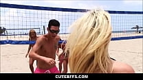 Hot Teenage Best Friends Volley Ball Girls Party Orgy