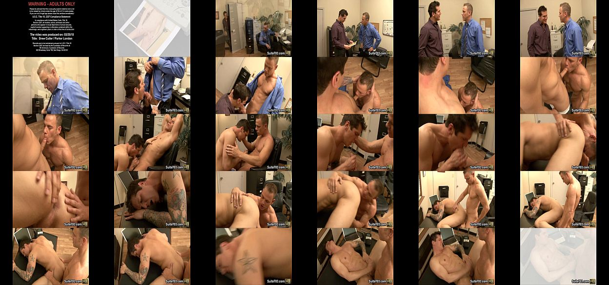 Office gays drew and parker fuck at work