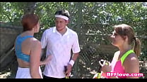 Horny Best Friends Fuck Their Tennis Coach - BFFlove.com video