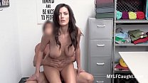 Busty Brunette MILF Caught By Cop And Fucked- B...