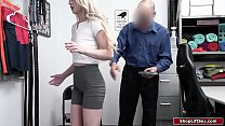 Small tits blonde thief is stripsearched