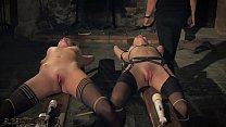 Kinky sex game and bondage sex for two slaves r... thumb