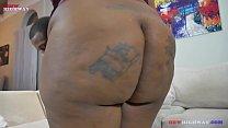10897 big booty ebony girl taking backshots from big black dick on BBWhighway preview