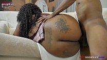 16057 big booty ebony girl taking backshots from big black dick on BBWhighway preview