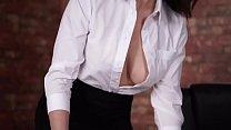 Downblouse bigboobs brunette secretary white open shirt big cleavege | william seed gay thumbnail