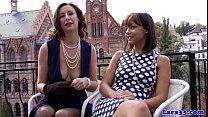 British mature pleasured by spanish beauty