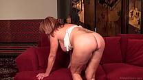 15899 Rae Hart mature masturbated with huge dildo on sofa HD preview