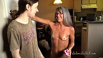 Milf Shares Panty Fetish with Young Man Thumbnail