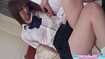 Rin Yazawa shaved pussy fuck and creamed!