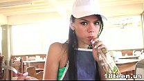 Tiny Latina Teen Claudia Castro fucked in a Hotel Room (Part 2) thumbnail