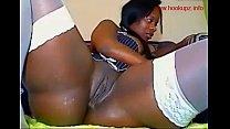 Ebony babe showing off