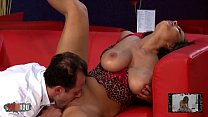 Giant natural tits for old bastard Image