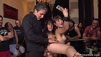 Parisian slave anal fucked in public